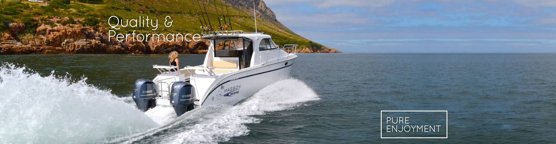 Titan 300 Express Cabin riding the waves in False Bay, South Africa